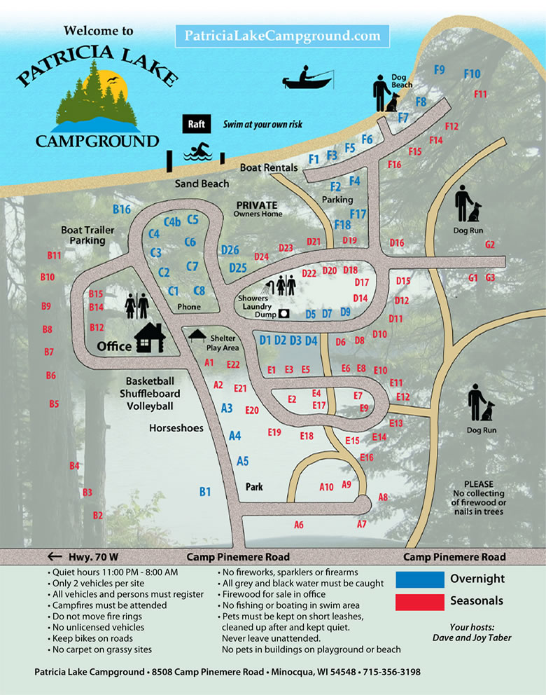 Patricia Lake Campground and RV Park - Location and Maps