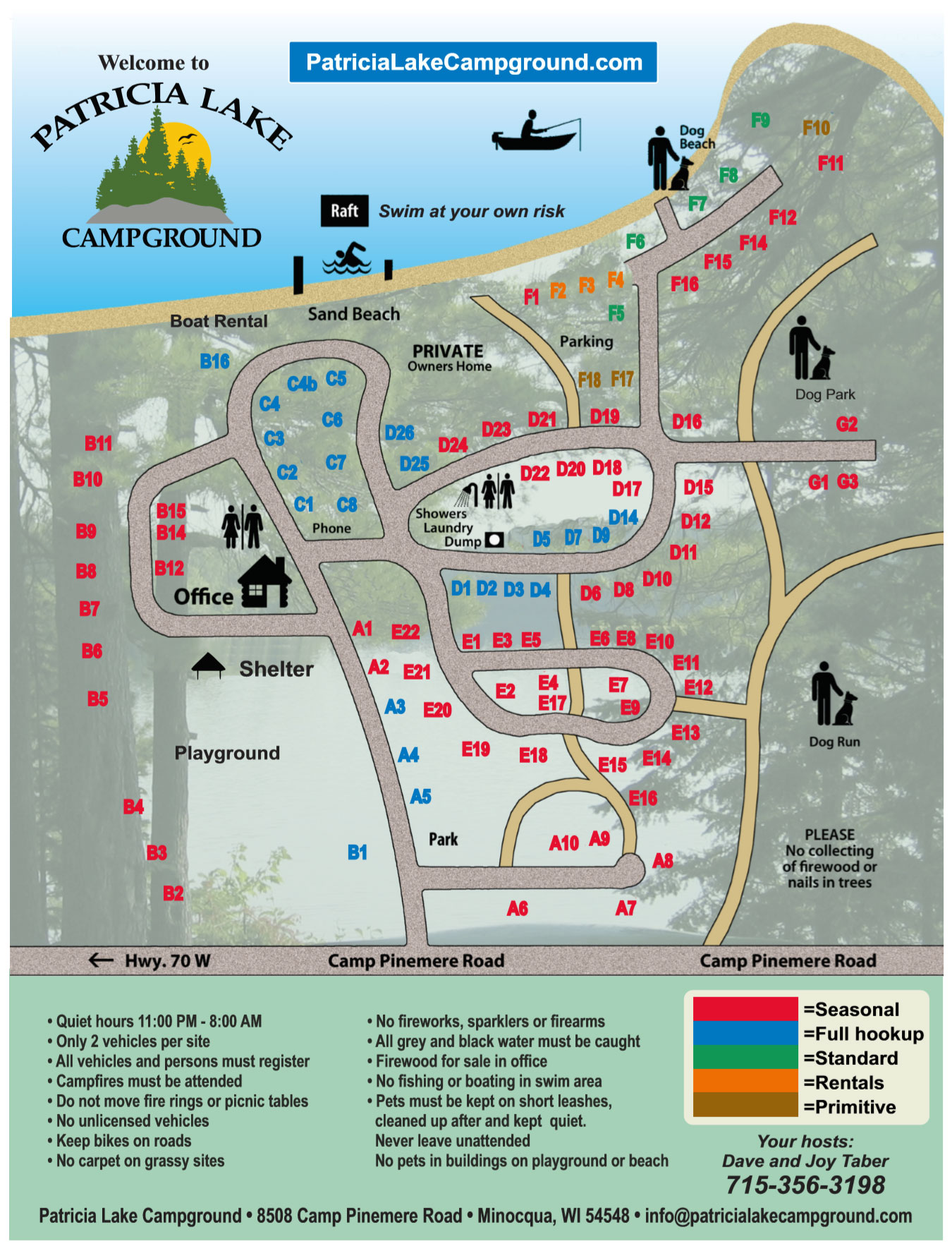 Patricia Lake Campground Map